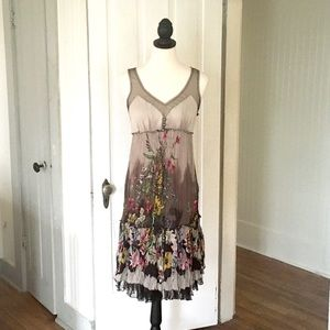 BCBG Floral Garden Party Dress. Size Small.